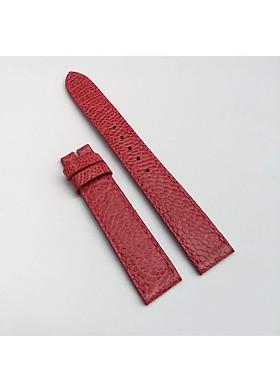 Dây đồng hồ da đà điểu  nữ màu  Hồng