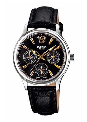 Đồng hồ Nữ Casio Pin dây Da kính Cứng LTP-2085L-1AVDF