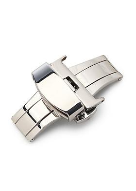 Khóa bướm chống gãy dây da đồng hồ SAM Leather SAMKB001 - Khoá bấm dây da tự động cao cấp inox 316 không gỉ
