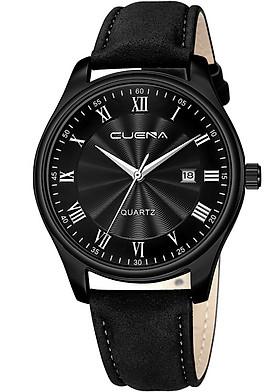 Đồng hồ Nam CUENA C868 lịch ngày sang trọng lịch lãm, chống nước sinh hoạt ,  đồng hồ đeo tay dây da PU cao cấp