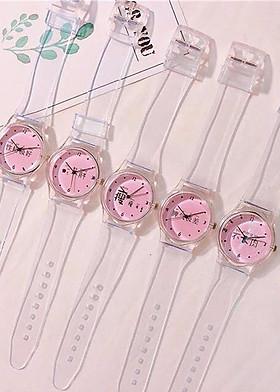 Đồng hồ nữ dây silicon dễ thương
