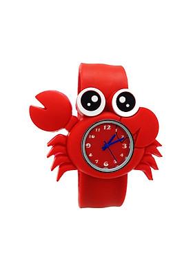 Đồng hồ Silicon Cua đỏ đáng yêu cho bé