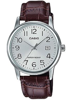 Đồng hồ Casio nam dây da MTP-V002L-7B2UDF (37mm)