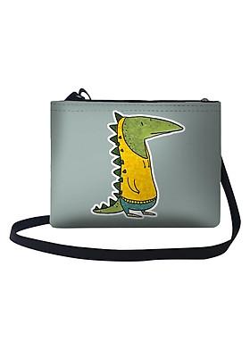 Hình ảnh Túi Đeo Chéo Nữ In Hình Kỳ Nhông Mặc Áo Hoodie Vàng - TUAA127