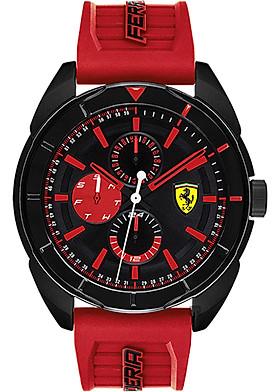 Đồng Hồ Nam Lịch Thứ Ngày Dây Cao Su Ferrari (45mm)