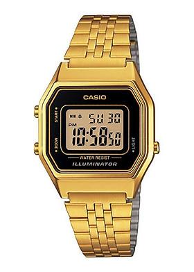 ĐỒNG HỒ CASIO LA680WGA-1DF Gold - Dây kim loại