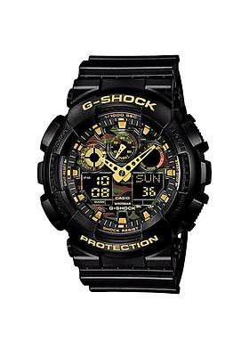 Đồng hồ nam dây nhựa Casio G-Shock chính hãng GA-100CF-1A9DR