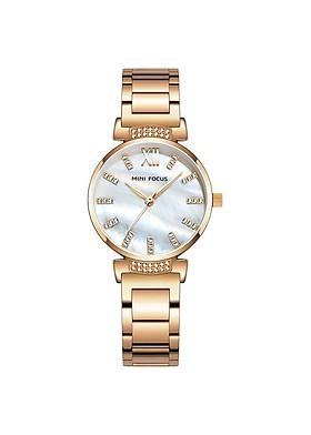 Đồng hồ thời trang công sở nữ Mini Focus chính hãng MF0227L (đồng hồ nữ) Fullbox, chống nước - Mặt kính Mineral đính đá, dây hợp kim cao cấp không gỉ