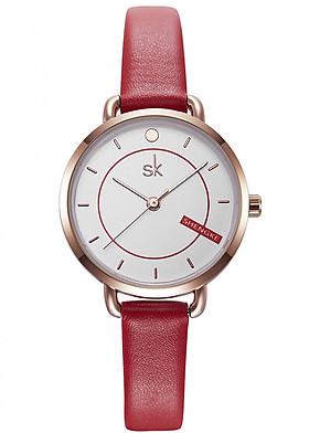 Đồng hồ nữ chính hãng Shengke Korea K8032L-04 Đỏ