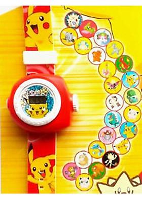 Đồng hồ bé trai chiếu 20 hình Pokemon