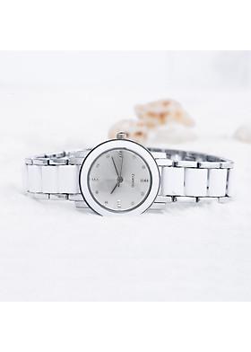 Đồng hồ nữ dây kim loại phối đá DH03