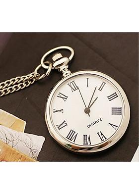 Đồng hồ quả quýt INOX trơn: Thiết kế hoài cổ - Lịch lãm (màu ngẫu nhiên)