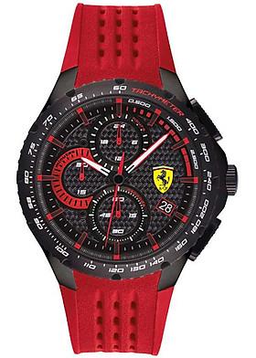 Đồng Hồ Nam Chronograph Lịch Ngày Dây Cao Su Ferrari (44mm)