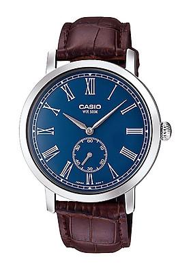 Đồng hồ Nam Casio dây Da kính Cứng MTP-E150L-2BVDF