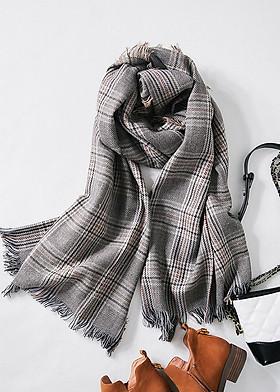 Hình ảnh Khăn choàng khăn len quàng cổ cho nữ L18-02