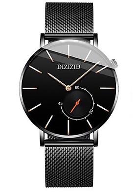 Đồng hồ nam DIZIZID dây thép mành Special Design chạy FULL 3 kim DKG01