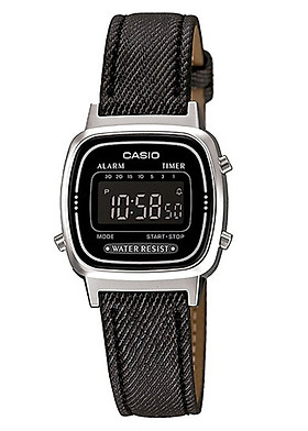 Đồng hồ nữ dây da Casio LA670WL-1BDF
