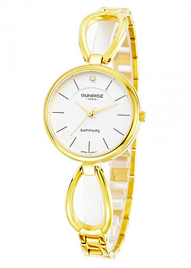 Đồng hồ nữ siêu mỏng Sunrise 9954SA kính Sapphire chống xước chống nước tốt - Fullbox chính hãng