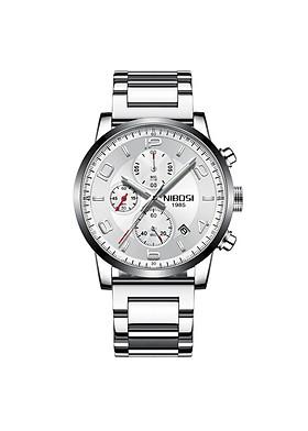 Đồng hồ thời trang công sở nam NIBOSI chính hãng NI2328.02  fullbox, chống nước - Chạy full 6 kim, Mặt kính Mineral, Dây hơp kim cao cấp không gỉ