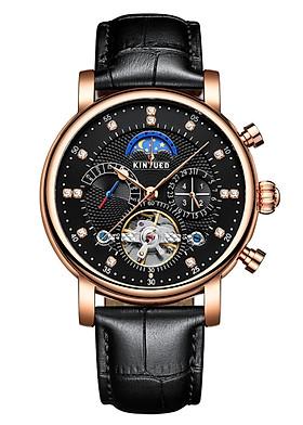 Đồng hồ cơ nam KINYUED hàng cao cấp, thiết kế phong cách doanh nhân, chạy full kim, full boxj