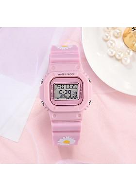 Đồng hồ điện tử nam nữ dây hoa cúc mẫu mới cực hot DH106 với thiết kế mới lạ