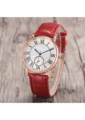 Đồng hồ thời trang nữ dây da tổng hợp cao cấp kim số la mã PKHRHX002 (đường kính mặt: 36 mm) - vòng tròn nhỏ trang trí