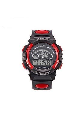 Đồng hồ trẻ em có đèn light và hẹn giờ NT888F viền đỏ