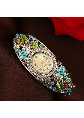 Đồng hồ nữ hoa đính đá cách điệu sang trọng