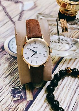Đồng hồ Nữ Halei  HL540 dây da cao cấp + Tặng Combo TẨY DA CHẾT APPLE WHITE PELLING GEL BEAUSKIN chính hãng