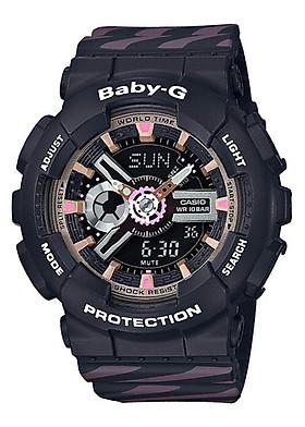 Đồng hồ Nữ Casio Baby-G dây nhựa kính Cứng BA-110CH-1ADR