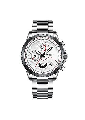 Đồng hồ thời trang công sở nam NIBOSI chính hãng NI2322.01 fullbox, chống nước - Chạy full 6 kim, mặt kính Mineral, dây hợp kim cao cấp không gỉ