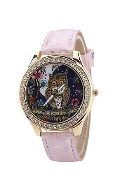 Đồng hồ đeo tay hình cú mèo đính đá