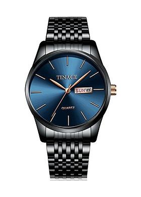 Đồng hồ nam cao cấp dây thép không gỉ thời trang sang trọng DHN05 ( mặt xanh - dây đen)