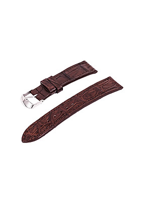 Dây đồng hồ da cá sấu thật-có sẵn khóa