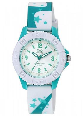 Đồng hồ trẻ em Q&Q Citizen VQ96J021Y dây nhựa thương hiệu Nhật Bản