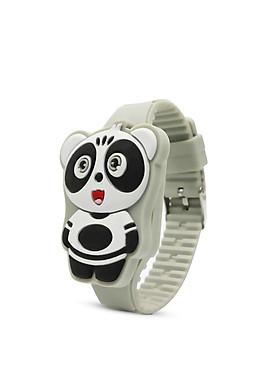 Đồng hồ thời trang trẻ em dây cao su cao cấp mặt gấu trúc PANDA sắc màu OEM PKHRTE011