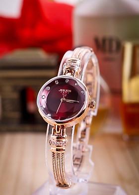 Đồng hồ nữ JA-1135 Julius Hàn Quốc dây thép dạng lắc tay
