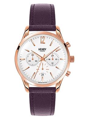 Đồng Hồ Dây Da Bò Henry London HL39-CS-0090 Hampstead (38.5mm) - Tím + Dịch Vụ Khắc Tên