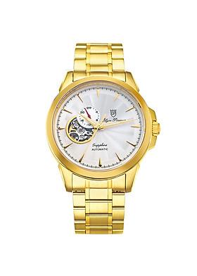 Đồng hồ nam dây kim loại Automatic Olym Pianus OP990-083AMK trắng