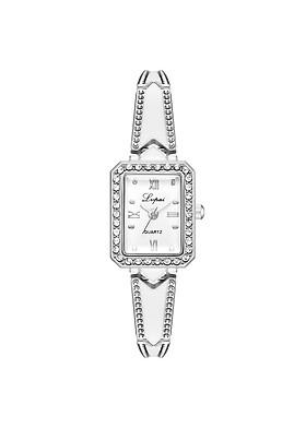 Đồng hồ nữ LVPAI LV07 mặt vuông đính đá sang trọng dây khảm sứ tinh tế