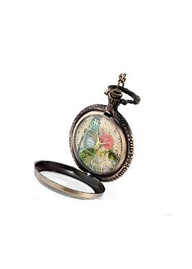 Đồng hồ dây chuyền quả quýt hoa cổ điển DH6 - Size lớn