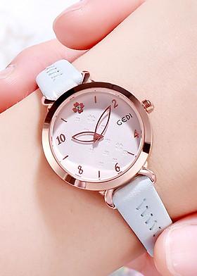 Đồng hồ nữ GEDI kim hình lá dễ thương - Hàng chính hãng