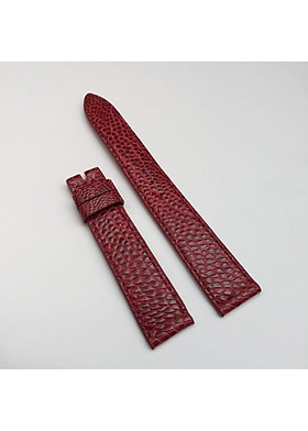 Dây đồng hồ da đà điểu nữ  đỏ