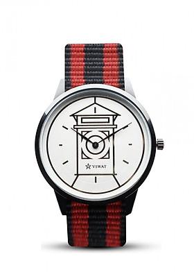 Đồng hồ nam dây Nato Viwat Sài Gòn VW-133S ( 38mm) Đen đỏ