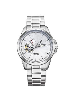 Đồng hồ nam dây kim loại Automatic Olym Pianus OP990-083AMS trắng