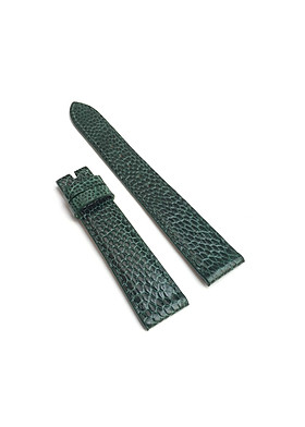 Dây đồng hồ da đà điểu nữ  xanh lá