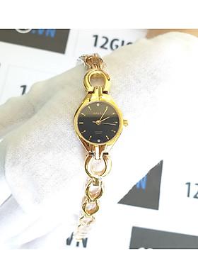 Đồng hồ nữ Halei dây lắc 5006L - Dây vàng mặt đen