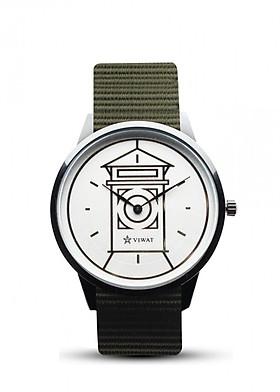 Đồng hồ nam dây Nato Viwat Sài Gòn VW-103S ( 38mm) Xanh quân đội
