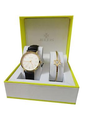 Bộ đôi combo đồng hồ nữ dây da Julius và lắc tay nữ Julius Hàn Quốc ja-1017