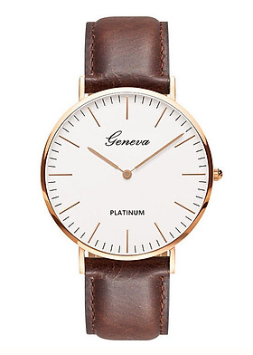 Đồng hồ nam dây da tổng hợp GENEVA PKHRGE037